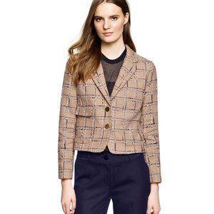 Tory Burch Evie Tweed Cotton Jacket Blazer